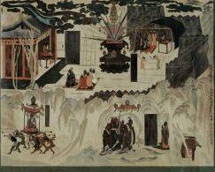 敦煌莫高窟323窟 初唐 仏教史遍画 模写図